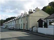SC4384 : Terraced housing, Mines Road, Laxey by Christine Johnstone