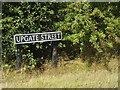 TM0990 : Upgate Street sign by Adrian Cable