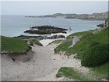 NB1340 : Rocky coast at Bostadh by M J Richardson
