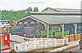 TQ4023 : Bluebell Railway Locomotive Shed, Sheffield Park 1997 by Ben Brooksbank