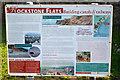 SX9777 : Information board by the South West Coast Path near Rockstone Flats, Dawlish by Robin Stott