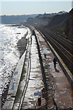 SX9777 : The sea wall and the railway north of Dawlish by Robin Stott