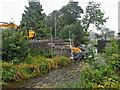 SD4798 : Bridge repairs, River Gowan by Mick Garratt