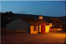 HP6208 : Baltasound Post Office at dusk by Mike Pennington