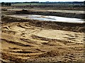 TF6603 : Sand and gravel pit near Crimplesham in Norfolk by Richard Humphrey