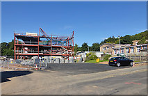 NT5035 : The new Langlee Primary School in Galashiels under construction by Walter Baxter