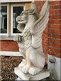 SP8633 : Stone Griffin Guarding Bletchley Park Mansion by David Dixon
