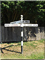 TM1287 : Roadsign on the B1134 Long Row by Adrian Cable