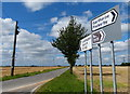 SE8416 : Road signs along the B1392 by Mat Fascione
