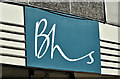 "J3374 : ""BHS"" shop sign, Belfast (September 2016) by Albert Bridge"
