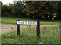 TL9271 : Heath Road sign by Adrian Cable