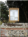 TL9172 : All Saints Church Notice Board by Adrian Cable