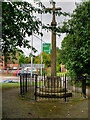 SP9066 : War Memorial, Little Irchester by David Dixon