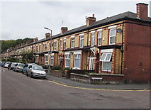 SJ8889 : Hardcastle Road houses west of Duchy Street, Edgeley, Stockport by Jaggery