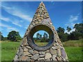 NS4276 : The Welcome Cairn: detail by Lairich Rig