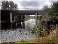 SP8966 : A45 Bridge over River Nene at little Irchester by David Dixon