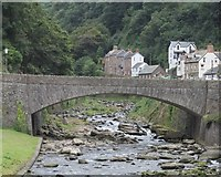 SS7249 : Bridge over the River Lyn by Gary Rogers