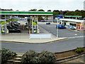 SK5302 : Fuel Forecourt at Leicester Forest East Service Area by David Dixon