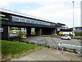 SK5302 : Bridge/Restaurant ant Leicester Forest East Services by David Dixon