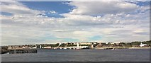 NZ3668 : Looking towards North Shields Fish Quay from South Shields by Chris Morgan