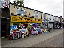 SJ8889 : Pound Express, Edgeley, Stockport by Jaggery