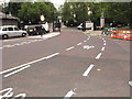 TQ2680 : Cycle Superhighway at Victoria Gate, Hyde Park by David Hawgood