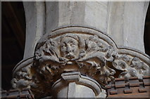 TA0322 : Chancel capital, St Mary's church, Barton-Upon-Humber by Julian P Guffogg