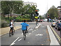 TQ2679 : Wheelies on cycle superhighway, Hyde Park by David Hawgood