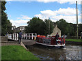 SD9851 : Gawflat Bridge, Skipton, open for canal traffic by Stephen Craven