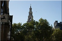 TQ3181 : View of St. Bride's Church from Fleet Street #2 by Robert Lamb