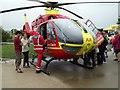 SO8940 : Air ambulance, Strensham Services by Philip Halling
