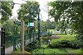 NN9457 : Pitlochry suspension walk bridge by Richard Hoare