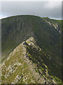 NY3414 : On Striding Edge by Karl and Ali