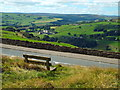 SE0527 : A bench with a view, near Wainstalls by Malc McDonald
