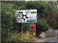 TL9370 : Roadsign on Stow Road by Adrian Cable