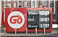 J3373 : Fuel prices sign, Belfast (17 September 2016) by Albert Bridge