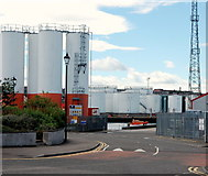 NJ9505 : Silos, Aberdeen Harbour by Bill Harrison