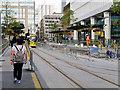 SJ8397 : St Peter's Square Tram Station - September 2016 by David Dixon