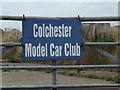 TL8921 : Colchester Model Car Club sign by Adrian Cable