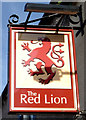 NY1441 : Sign for the Red Lion, Aspatria by JThomas