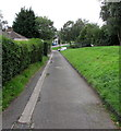ST2996 : Canalside path towards Commercial Street, Pontnewydd, Cwmbran by Jaggery