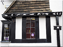 NY3853 : Decorative guttering at the Spinners Arms by Rose and Trev Clough