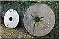 NX9666 : Millstones at New Abbey by Mary and Angus Hogg