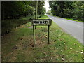 TL9271 : Ixworth Village Name sign on Thetford Road by Adrian Cable