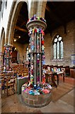 TA0322 : Barton on Humber, St. Mary's Church: The attempt to beat the world record (15,534) for knitted teddy bears 3 by Michael Garlick