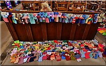 TA0322 : Barton on Humber, St. Mary's Church: The attempt to beat the world record (15,534) for knitted teddy bears 7 by Michael Garlick
