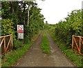 ST4130 : Entrance to Langport Range on Mildmay's Road by Roger Cornfoot