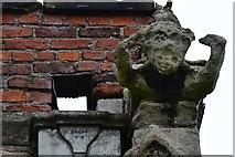 TA0322 : Barton on Humber, St. Mary's Church: Weathered gargoyle by Michael Garlick
