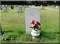 TF6420 : The CWGC headstone of Alan Frederick West by Adrian S Pye