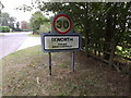 TL9371 : Ixworth Village Name sign on Bardwell Road by Adrian Cable